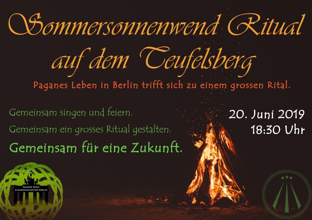 Sommersonnenwend Ritual auf dem Teufelsberg